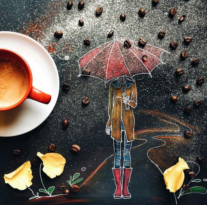 дали открытки дождливое утро осень алистера предлагает